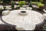 Grand Flagstone with Belvedere Fire Pit Custom Colour o